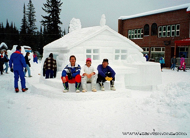 Log Cabin BC Snow Carving Championships 1993 Peoples Choice